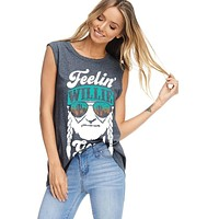 Feelin' Willie Good Graphic Top - Charcoal