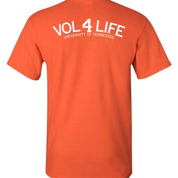 Official NCAA University of Tennessee Volunteers, Knoxville Vols UT UTK Women's Vol 4 Life White Short-Sleeve T-Shirt - 35TN-5