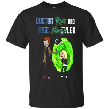 Fortuitous Doctor Rick and Rose Morty tyler - Doctor Who and Rick Morty T shirt