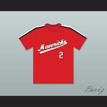 Joe Garza 2 Portland Mavericks Red Baseball Jersey The Battered Bastards of Baseball
