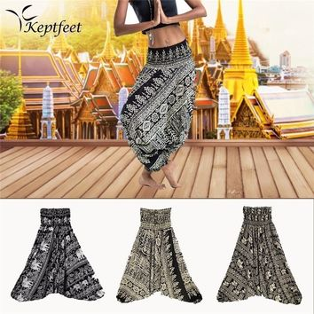 Ladies Comfy Yoga Beach Baggy Gypsy Women Harem Pants Trousers Indian Summer Loose Yoga Pants One Size