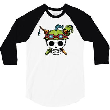 pirate scout 3/4 Sleeve Shirt