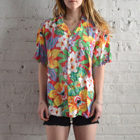 Floral Hawaiian Button Up