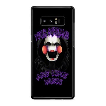 Five Nights At Freddy S The Marionette Samsung Galaxy Note 8 Case