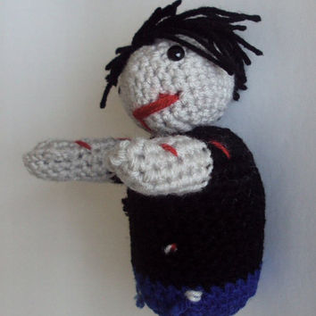 Crocheted Zombie Teen Doll - Amigurumi Zombie Boy - Stuffed Toy