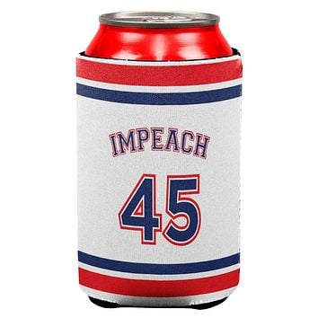 Impeach 45 45th President Donald Trump All Over Can Cooler