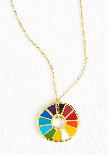 ModCloth Eco-Friendly Corked Necklace in Color Wheel