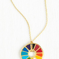 Eco-Friendly Corked Necklace in Color Wheel by ModCloth
