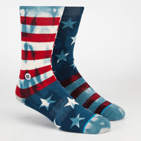 Stance Mix & Match Banner Mens Crew Socks Red/Blue One Size For Men 23759637101