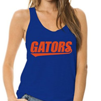 Official NCAA University of Florida Gators The Orange and Blue GATOR NATION! Women's Ath Leisure Racerback Tank Top