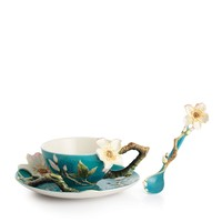 Franz Collection Van Gogh Almond Flower Cup & Saucer with Spoon