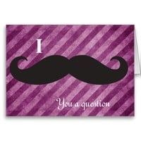 Pink Stripes, I mustache you a question Note Cards