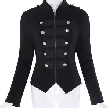 Women's Gothic Military Zipper Jacket (4 Colors)