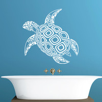 Tortoise Wall Decal - Beautiful Marine Creature Vinyl Sticker