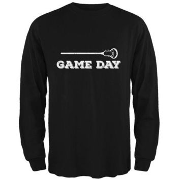 VONE05Y Game Day Lacrosse Black Adult Long Sleeve T-Shirt