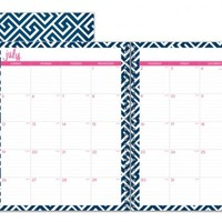 "Dabney Lee for Blue Sky ""Greek Key"" Large Tabbed Monthly Wire-O Planner"
