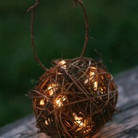 SET OF 6 Outdoor Rustic Wedding Decoration Candles by braggingbags