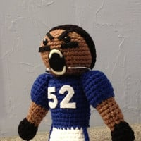 Crocheted  Ravens Doll - stuffed toy - football