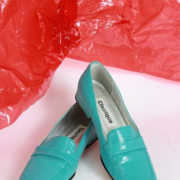 Turquoise Loafers Size 7.5
