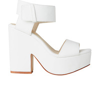 Lipstik Shoes - Jase Wedge - White