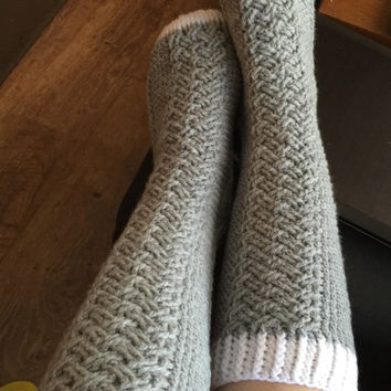 Cable Crochet Socks - Any Size & Color Combo