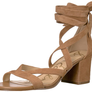 Sam Edelman Women's Sheri Heeled Sandal Golden Caramel 9 B(M) US '