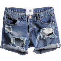 One Teaspoon || Chargers shorts in Pacifica