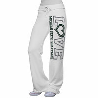 My U Michigan State Spartans Ladies Love Bird Knit Pant - White