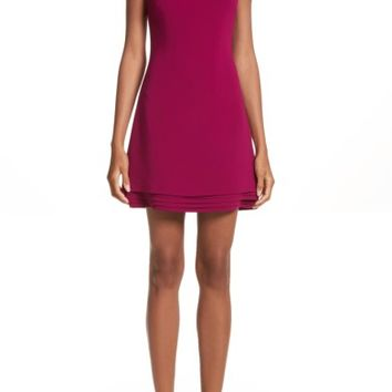 Brandon Maxwell Layered Hem Shift Dress | Nordstrom