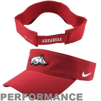 Nike Arkansas Razorbacks Dri-FIT Stadium Adjustable Performance Visor - Cardinal
