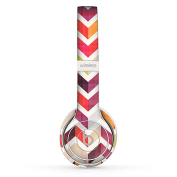 The Colorful Segmented Scratched ZigZag Skin Set for the Beats by Dre Solo 2 Wireless Headphones