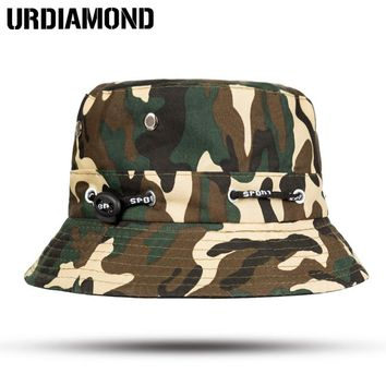 URDIAMOND Brand Women Men Bucket Hat Bucket Caps Panama Camouflage Sad Boy Flat Hats For Men Cap Cotton Boonie Sun Bucket Hat