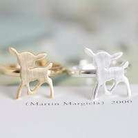 deer ring, bamby ring in Gold / Silver