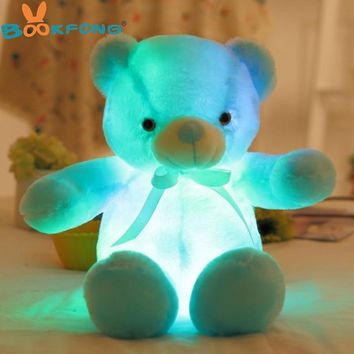 50cm Creative Light Up LED Teddy Bear Stuffed Animals Plush Toy Colorful Glowing Teddy Bear