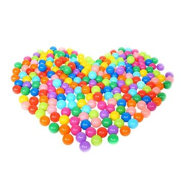 100PCS Kids Ball Colorful Fun Soft Plastic Ball Pit Balls for Babies Kids Children Birthday Parties Events Playground Games Pool Tent Ocean Swim Toys Ball Packing in Mess Bag, 5.5CM