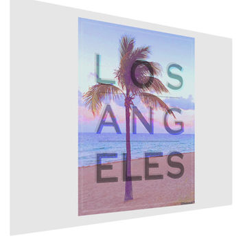 Los Angeles Beach Filter Matte Poster Print Landscape - Choose Size