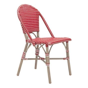 Paris Dining Chair (Set of 2) ~ Red & White