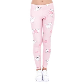 Pretty Pink Kitty Cat Leggings