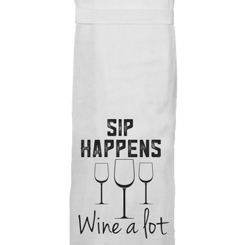 Sip Happens Hand Towel By Twisted Wares