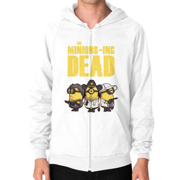THE MINIONS ING DEAD Zip Hoodie (on man)