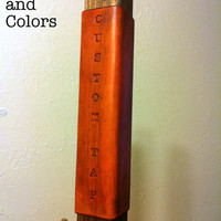Custom Beer Tap Handle: Personalized Tap handle Leather and Wood