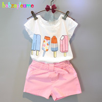 2016 Summer Toddler Girl Outfits Children Clothing Ice Cream Brands Top+Shorts 2pcs Baby Girls set Kids Clothes 0 7Years BC1142-in Clothing Sets from Mother & Kids on Aliexpress.com | Alibaba Group