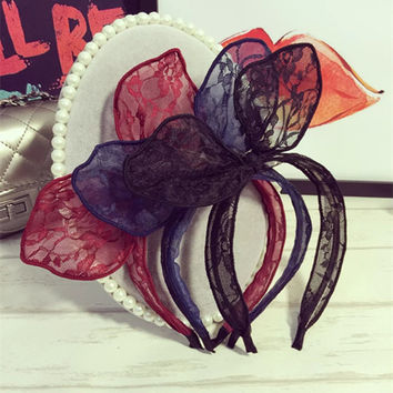 Lace Rabbit Hair Clip [9184247556]