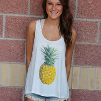 Pineapple knit tank top-more colors
