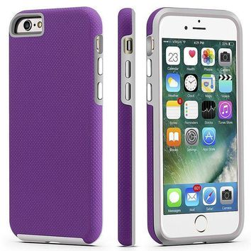 Iphone 6 / 6s Case Cellever Dual Guard Protective Shock Absorbing Scratch Resistant Rugged Drop Protection Cover For Apple Iphone 6 / 6s (purple)