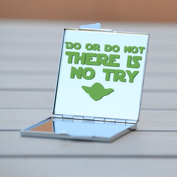 Do or do not. There is no try. | Star Wars fan gift idea | Star Wars party favor | Star Wars art | Star Wars gift | Yoda quotes