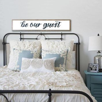 """""""Be Our Guest"""" Hand Painted Sign"""
