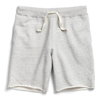 Cut Off Gym Shorts in Light Grey Mix