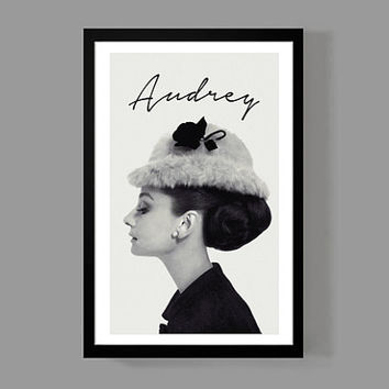 Audrey Hepburn Custom Poster - Breakfast at Tiffanys, Fashion icon, Wall poster, Pop art