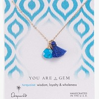 Dogeared 'You are a Gem' Boxed Cluster Pendant Necklace